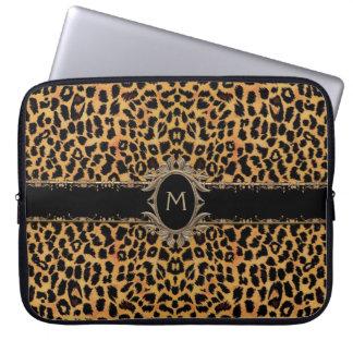 Monogram Classic Leopard Skin Animal Laptop Sleeve