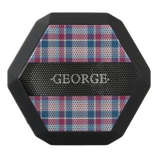 Monogram. Classic  Plaid Checker. Black Bluetooth Speaker