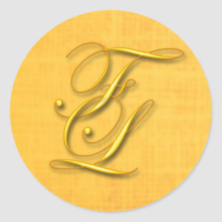 Monogram Classic Round Sticker