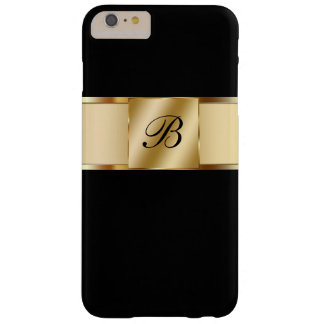 Monogram Classy Gold Style Barely There iPhone 6 Plus Case