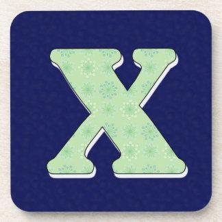Monogram Coaster Letter X