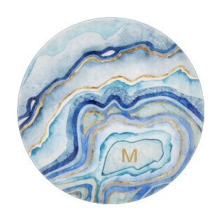 Monogram | Cobalt Agate II Cutting Board
