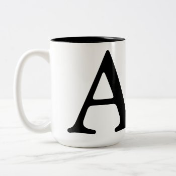 Monogram Coffee Cup Customized by creativeconceptss at Zazzle