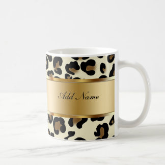 Monogram Coffee Mugs Leopard