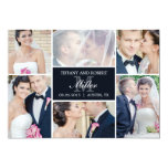 Monogram Collage Wedding Announcement - Black Custom Announcements