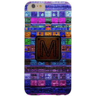 Monogram Colorful Mosaic Pattern Wood Look #11 Barely There iPhone 6 Plus Case