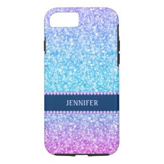 Monogram Colorful Retro Glitter & Diamonds iPhone 7 Case