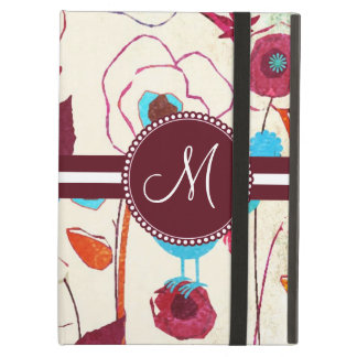 Monogram Colorful Spring Flowers Birds Mulberry Case For iPad Air