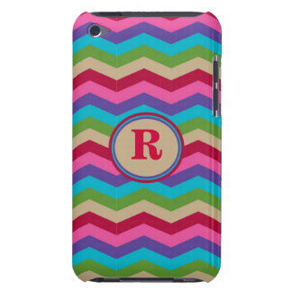 Monogram Colorful Zig Zag Stripes Case-Mate Case Case-Mate iPod Touch Case