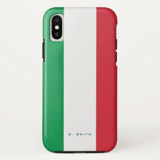 Monogram. Colors of Italy Flag. iPhone X Case