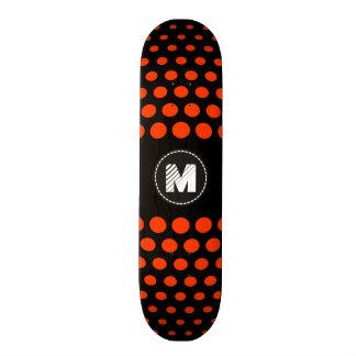 Monogram Coquelicot Polka Dots Pattern Skateboard Deck