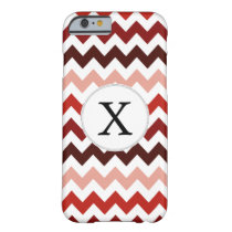 Monogram Coral Chevron ZigZag Pattern Barely There iPhone 6 Case