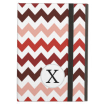 Monogram Coral Chevron ZigZag Pattern Case For iPad Air