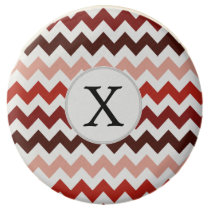 Monogram Coral Chevron ZigZag Pattern Chocolate Dipped Oreo