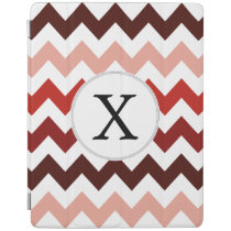 Monogram Coral Chevron ZigZag Pattern iPad Smart Cover