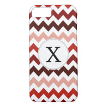 Monogram Coral Chevron ZigZag Pattern iPhone 7 Case