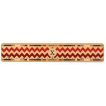 Monogram Coral Chevron ZigZag Pattern Key Holder