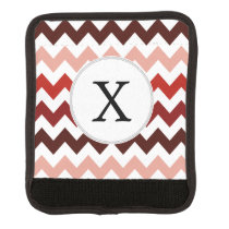 Monogram Coral Chevron ZigZag Pattern Luggage Handle Wrap
