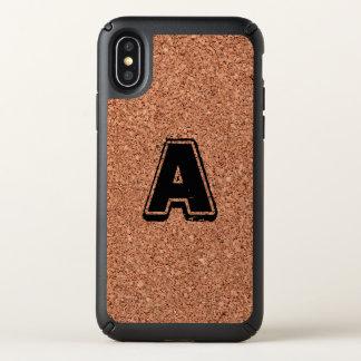 Monogram Cork Board Speck iPhone X Case