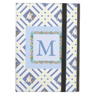 Monogram Cornflower Blue Bulldog Case For iPad Air