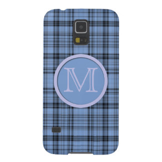 Monogram Cornflower Blue Plaid Case For Galaxy S5