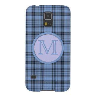 Monogram Cornflower Blue Plaid Galaxy S5 Cover