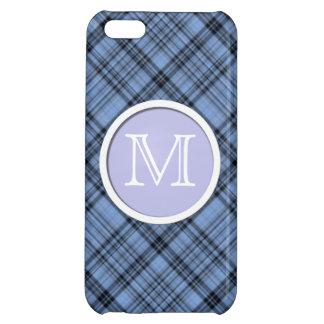Monogram Cornflower Blue Plaid iPhone 5C Case