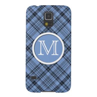 Monogram Cornflower Blue Plaid Samsung Galaxy Case