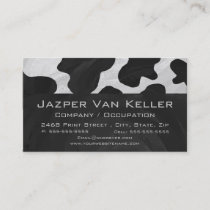 Monogram Cow Black and White Business Card