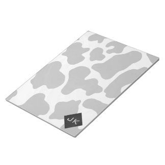 Monogram Cow Black and White Notepad