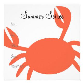 Monogram Crab Custom Announcements