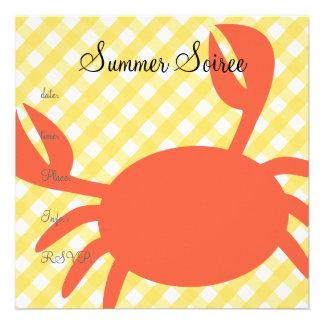 Monogram Crab Invitation