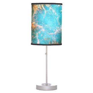 Monogram Crab Nebula in Taurus outer space picture Desk Lamp
