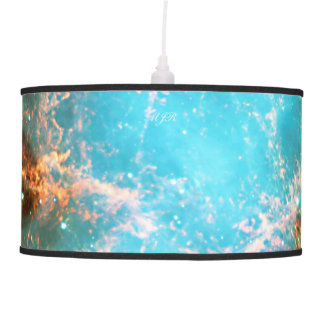 Monogram Crab Nebula in Taurus outer space picture Pendant Lamp