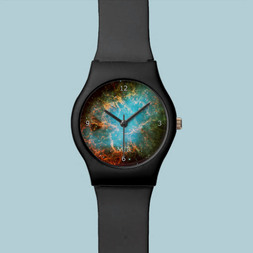 Monogram Crab Nebula in Taurus outer space picture Watches