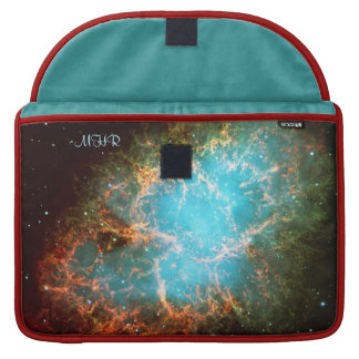 Monogram Crab Nebula in Taurus with poetic quote Sleeve For MacBooks