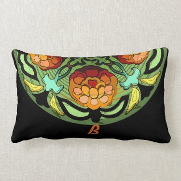 Monogram Craftsman Autumn Garden (21x13 Pillow) Pillows