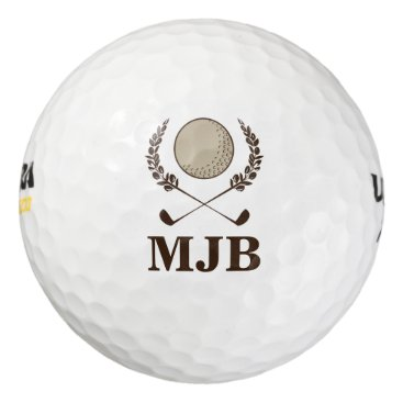 cbendel Monogram Crest Golf Balls