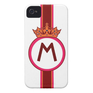 Monogram Crown crest initial custom iphone case