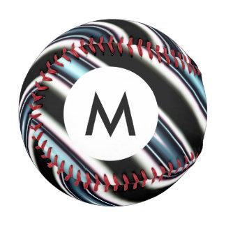 Monogram Curved Lines Close Up Of A Fractal Baseball