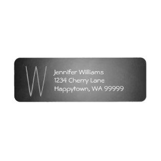 Monogram Custom Chalkboard Vignette Return Address Label