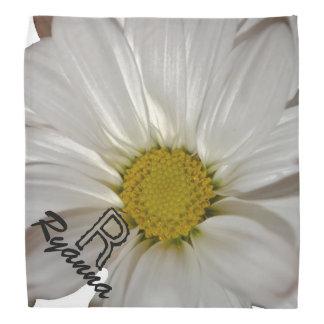 monogram custom daisy petal personalize hair wrap bandana