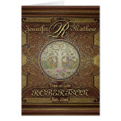 Monogram Custom Family Tree Anniversary Card (<em>$3.15</em>)