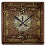 Monogram Custom Family Tree Anniversary Square Wall Clock (<em>$31.65</em>)