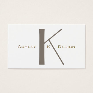 Monogram Custom Graphic Arts Plain Business Card