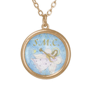 MONOGRAM custom Musical Angel Gold Plated Necklace