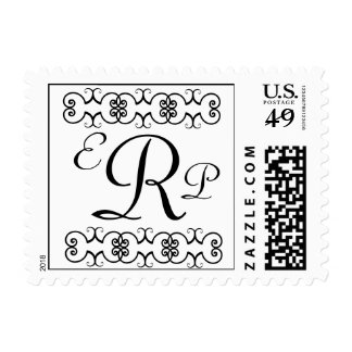 "Monogram Custom Postage ""EPR"" Wedding"