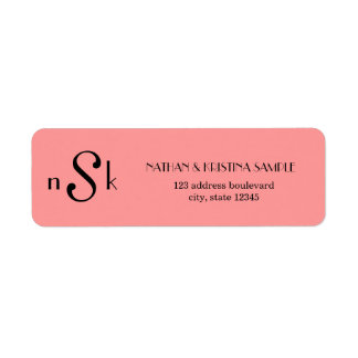 Monogram Custom Return Address Label