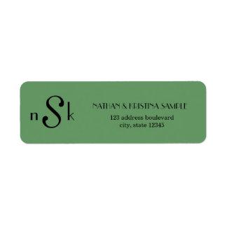 Monogram Custom Return Address Labels
