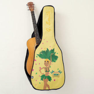 Monogram. Cute Brazilian Girls Carnival Costume. Guitar Case